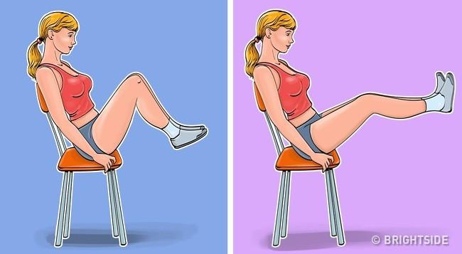 7 bài tập dành cho những người lười đứng lên, thích ngồi ì trên ghế mà vẫn có bụng phẳng, eo gọn gàng - Ảnh 6.