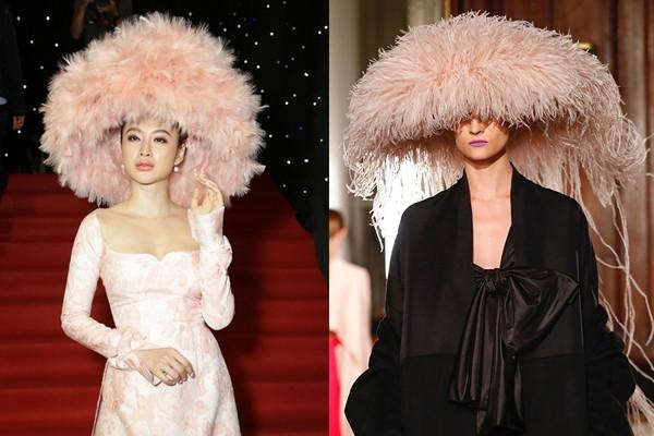 Chặt chém thảm đỏ bằng chiếc mũ lông to bự, nhưng ý tưởng này của Angela Phương Trinh lại nhìn quen quá đi thôi  - Ảnh 9.