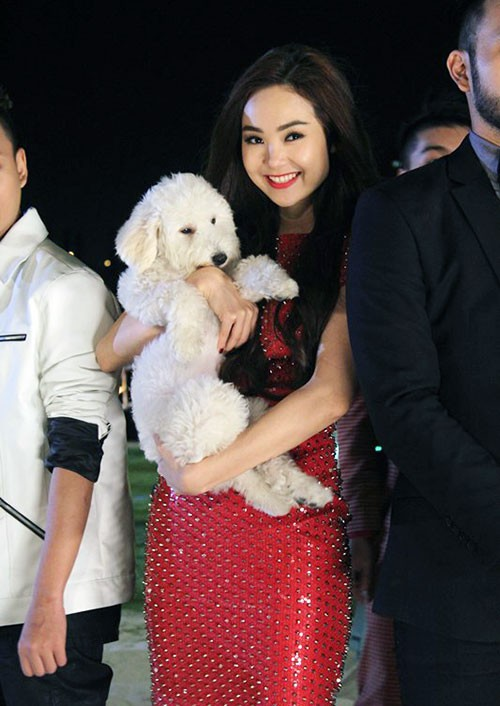 Trước Đức Phúc, đã có Angela Phương Trinh và Minh Hằng cũng bế chó lên thảm đỏ - Ảnh 4.