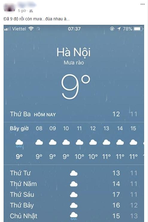 Hình ảnh được chia sẻ nhiều nhất ngày hôm nay: Bảng báo nhiệt độ tụt xuống số 9, Hà Nội lạnh teo như Bắc Cực - Ảnh 2.