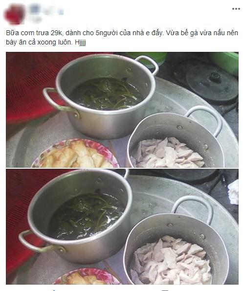 Bức ảnh mâm cơm 5 người ăn chưa đến 30 nghìn, lại vừa bế con vừa nấu của mẹ trẻ gây tranh cãi - Ảnh 1.