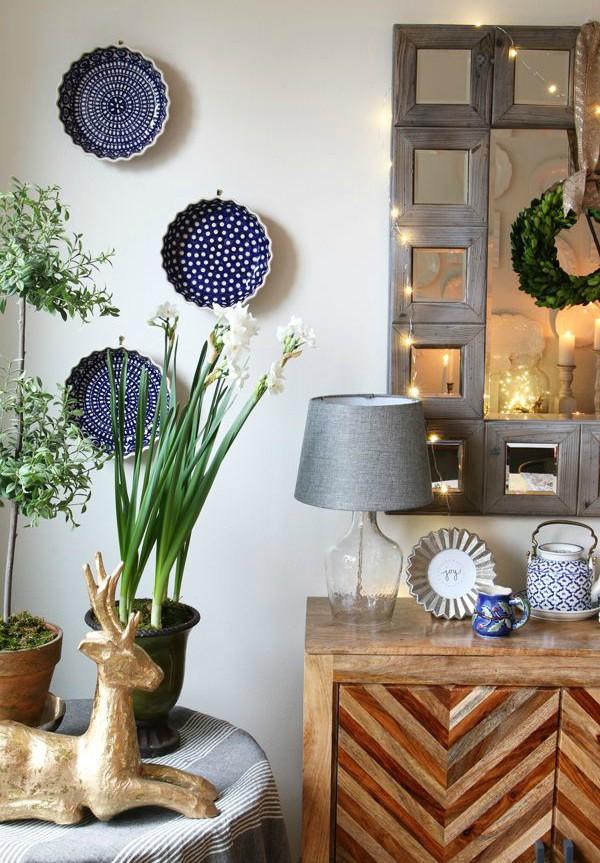 Trang trí tường bằng đĩa vừa rẻ vừa dễ, lại có thể kết hợp được với bất cứ dạng nội thất nào, tại sao bạn không thử? - Ảnh 10.