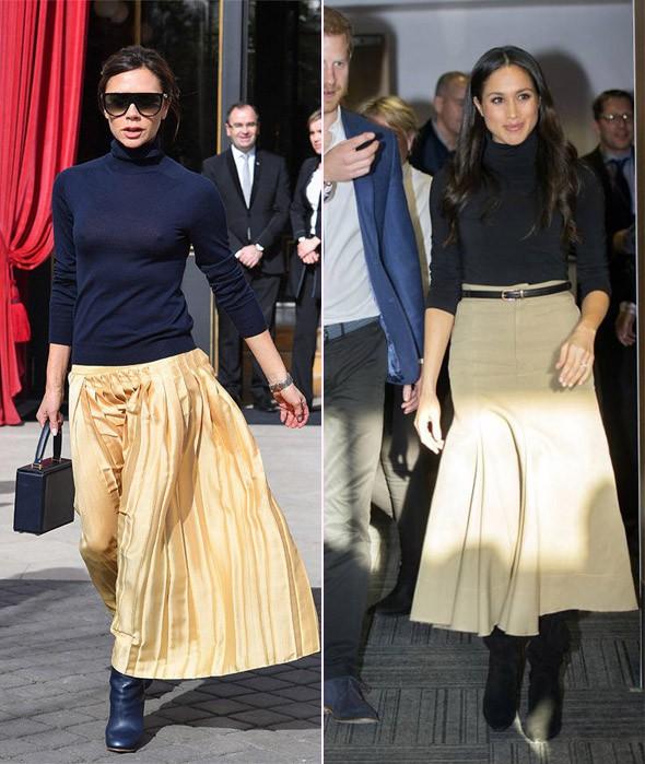 Không phải ngẫu nhiên mà mặc đẹp, dường như Meghan Markle cũng có hình mẫu để học theo và đó chính là Victoria Beckham - Ảnh 5.