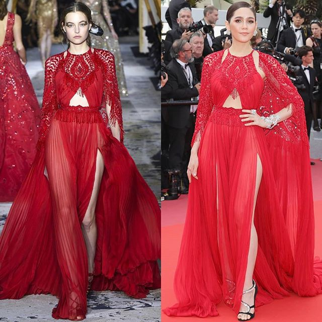 Chẳng phải Phạm Băng Băng hay dàn sao Hollywood, mỹ nhân Thái Chompoo Araya mới là người chiếm sóng thảm đỏ trong 5 ngày ở Cannes - Ảnh 4.
