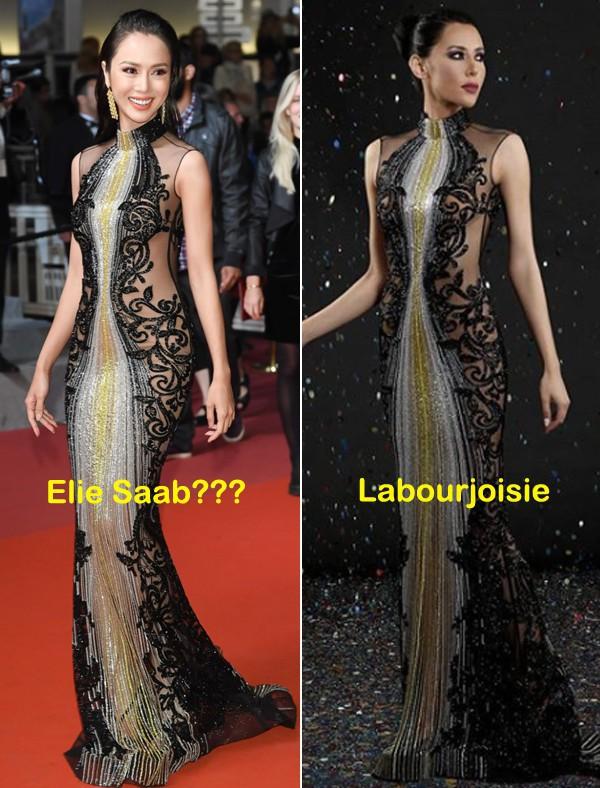 Xúng xính đi Cannes, Vũ Ngọc Anh bị netizen tố mặc thương hiệu ít tiếng nhưng lại nói là của Elie Saab - Ảnh 8.