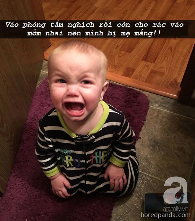 """Những lí do """"trên trời"""" khiến các bé khóc lóc ăn vạ còn mẹ thì phải """"bó tay"""" - Ảnh 15."""