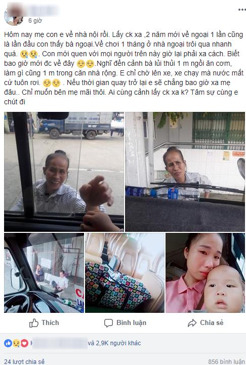 Đằng sau hình ảnh bà ngoại khóc chia tay cháu ở bến xe là tâm sự đẫm nước mắt của cô con gái lấy chồng xa 2 năm mới 1 lần về nhà - ảnh 1
