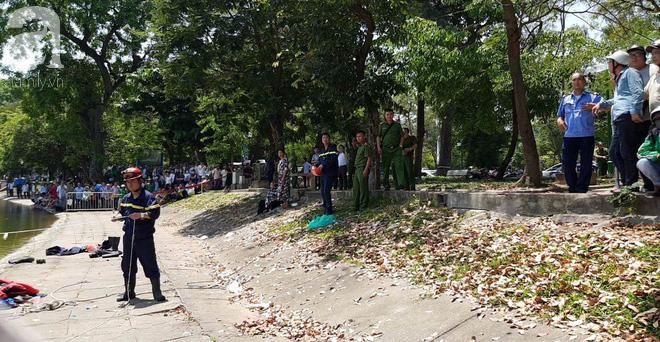 Hà Nội: Nam thanh niên nhảy xuống hồ Thiền Quang trong tình trạng không bình thường, cụ ông lao xuống cứu đuối nước tử vong - ảnh 5