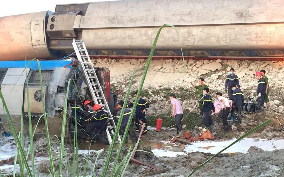 Vụ tai nạn lật tàu hỏa ở Thanh Hóa: Người thân vẫn chưa dám thông báo cho 2 con của lái tàu tử vong