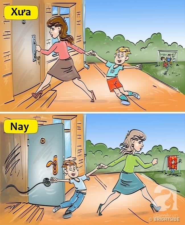 Bộ tranh hài hước so sánh khác biệt một trời một vực giữa trẻ con thời xưa và thời nay - Ảnh 10.