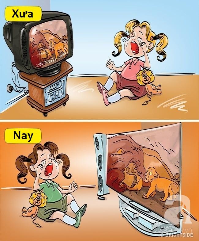Bộ tranh hài hước so sánh khác biệt một trời một vực giữa trẻ con thời xưa và thời nay - Ảnh 13.