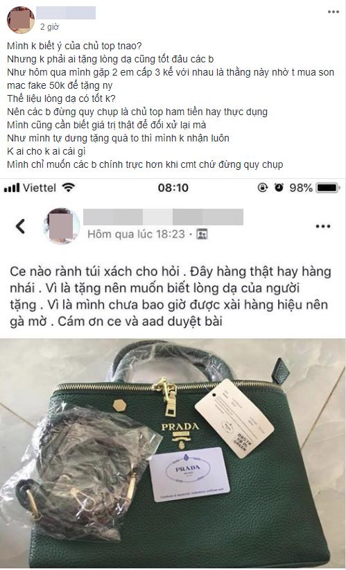 Chụp ảnh túi xách được tặng lên hỏi hàng xịn hay nhái, người phụ nữ bị gạch đá túi bụi vì vô duyên - Ảnh 6.
