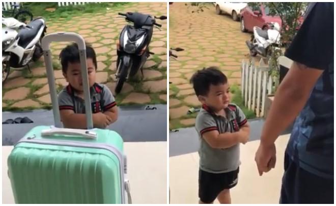 Clip: Cậu bé vừa nức nở khóc vừa thu dọn quần áo vào vali, đòi lên xe ô tô về nhà ngoại khi bị ba mắng vì quậy phá - Ảnh 3.