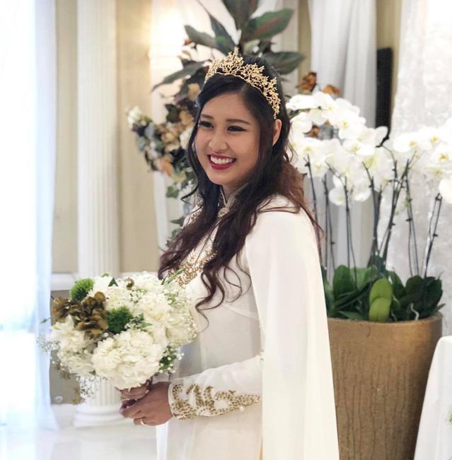 Chân dung Hoàng Châu, cô con gái lớn tài năng, xinh như hoa hậu vừa lấy chồng của nghệ sĩ Hồng Vân - Ảnh 4.