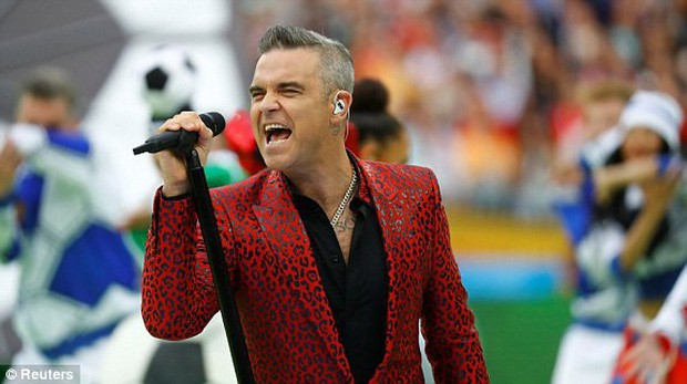 Robbie Williams đốt nóng sân vận động, khai mạc World Cup 2018 - ảnh 2