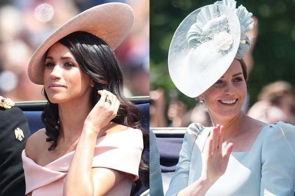 Cùng là công nương Hoàng gia Anh nhưng Kate và Meghan lại có hai style chọn mũ đối lập nhau - Ảnh 2.