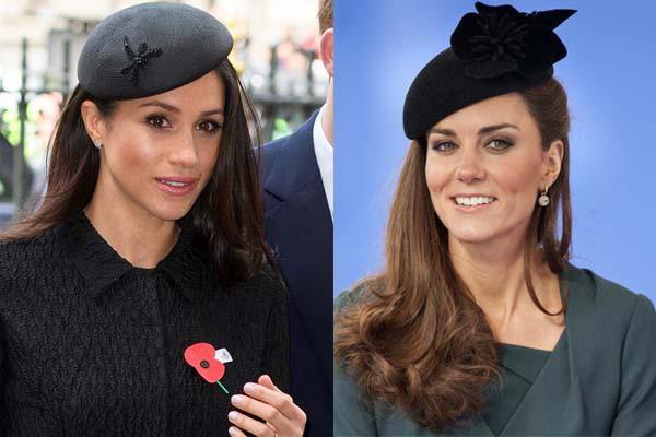 Cùng là công nương Hoàng gia Anh nhưng Kate và Meghan lại có hai style chọn mũ đối lập nhau - Ảnh 7.