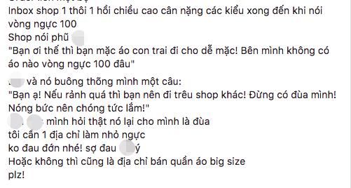 Đắng lòng cô gái ngực khủng bị chủ shop online mắng té tát: Không có áo cho vòng một 100cm, rảnh thì trêu shop khác - Ảnh 2.