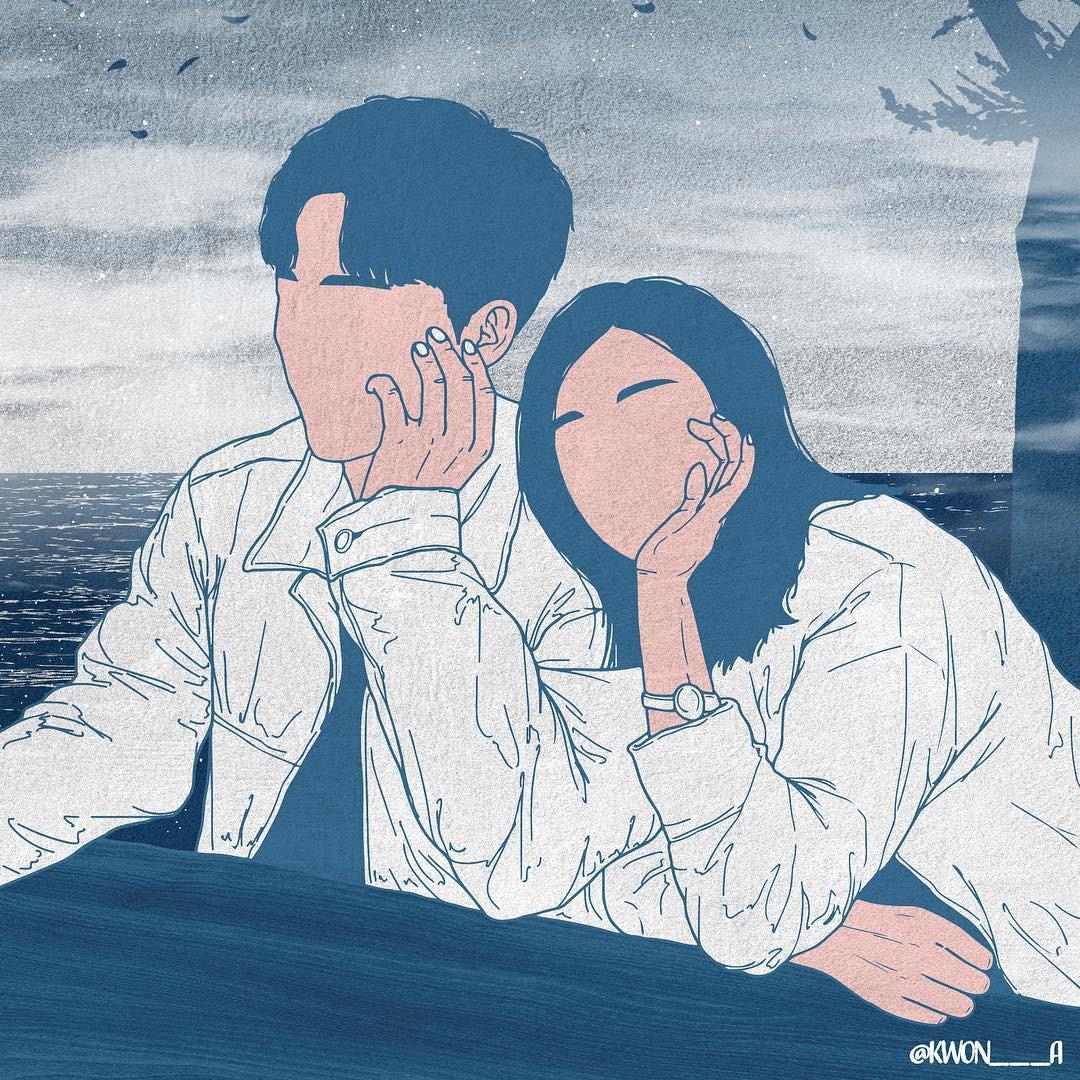 Bộ tranh 50 sắc thái tình yêu khiến người xem tan chảy - Ảnh 12.