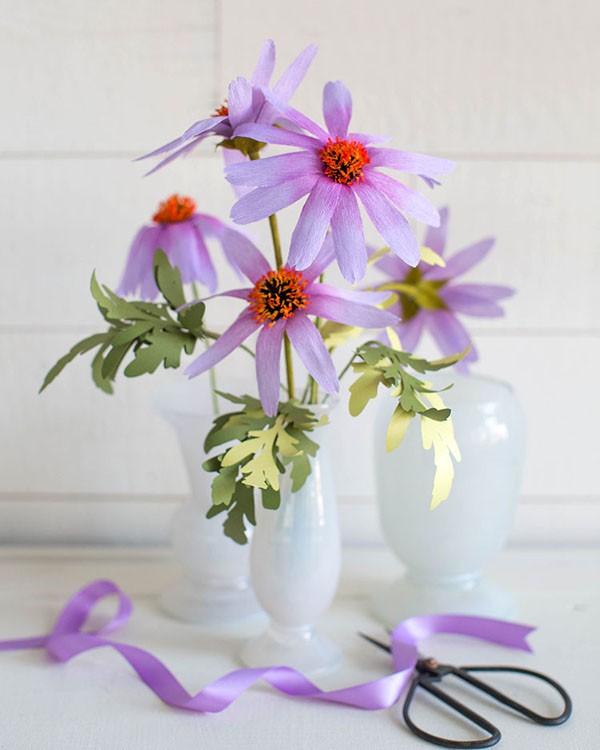 Mách bạn cách làm hoa cúc giấy cực xinh cực dễ - Ảnh 12.