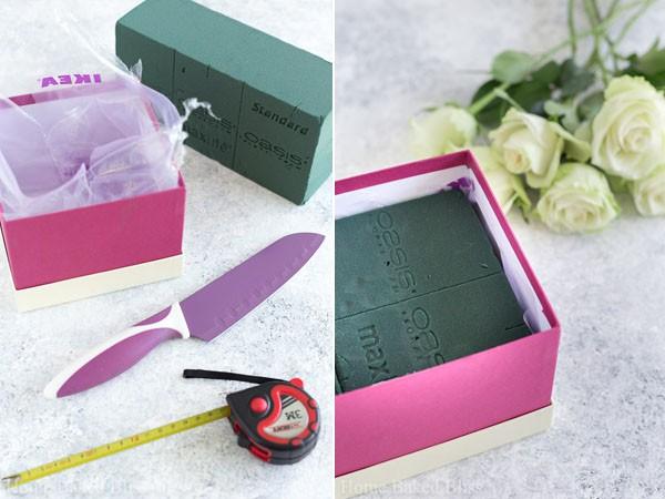 Không cần ra tiệm nữa bạn có thể tự cắm hoa hồng trong hộp siêu đẹp