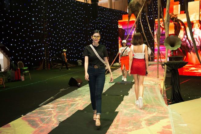 Ngọc Trinh và Hương Giang mải miết tập catwalk trên đôi giày cao 20cm cho show của NTK Đỗ Long - Ảnh 5.