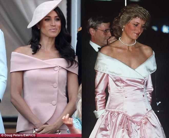 Nhìn trang phục mới nhất của Meghan Markle lại khiến người ta nhớ đến loạt váy suit cực đẹp của Công nương Diana