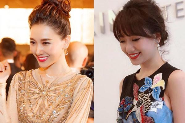 Mặc váy đẹp, trang điểm xinh nhưng Hari Won lại khác lạ với chiếc mũi cao thon bất ngờ - Ảnh 5.