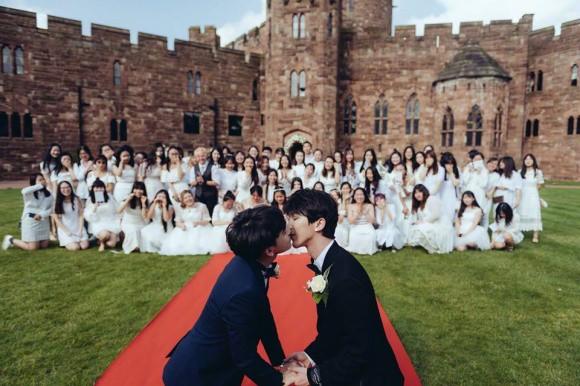 Đám cưới cổ tích tại lâu đài nước Anh của cặp mỹ nam hot nhất nhì châu Á - Ảnh 5.