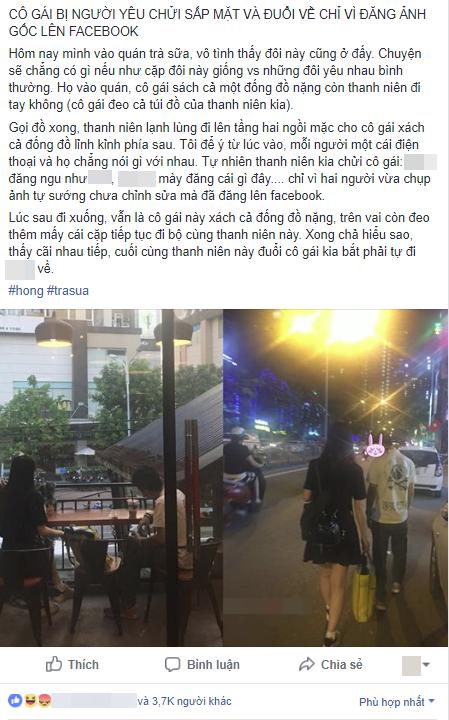 Cô gái đáng thương bị người yêu mắng chửi thậm tệ và đuổi về chỉ vì... đăng ảnh chưa chỉnh sửa lên Facebook - Ảnh 1.
