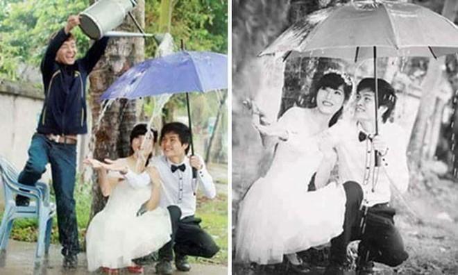 Ngã ngửa với sự thật về cơn mưa tình yêu trong những bức ảnh cưới lãng mạn - Ảnh 5.