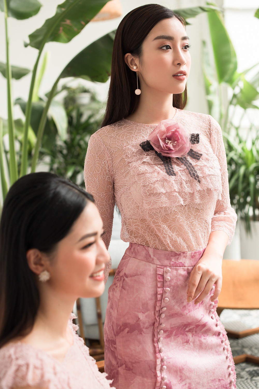 Hoa hậu Mỹ Linh, Á hậu Thanh Tú đốn gục trái tim mọi chàng trai với bộ ảnh ngọt ngào, nữ tính - Ảnh 4.