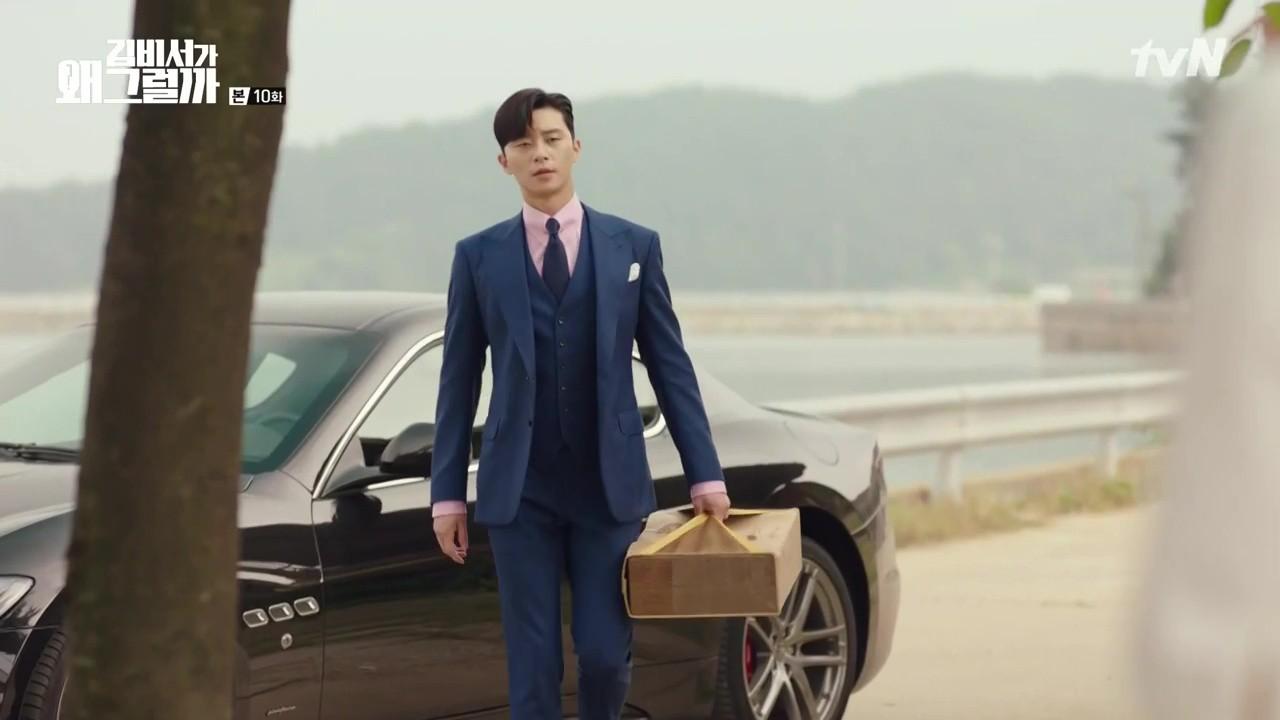 Hậu trường Thư Ký Kim: Quá bất ngờ với thứ đựng trong hộp quà Park Seo Joon mang ra đảo - Ảnh 2.