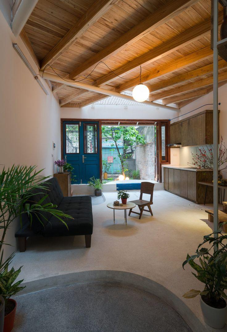 Ngôi nhà 30m² ở Tây Hồ, Hà Nội cho thấy: Khi hiện đại gặp xưa cũ sẽ tạo nên điều vô cùng kì diệu - Ảnh 4.