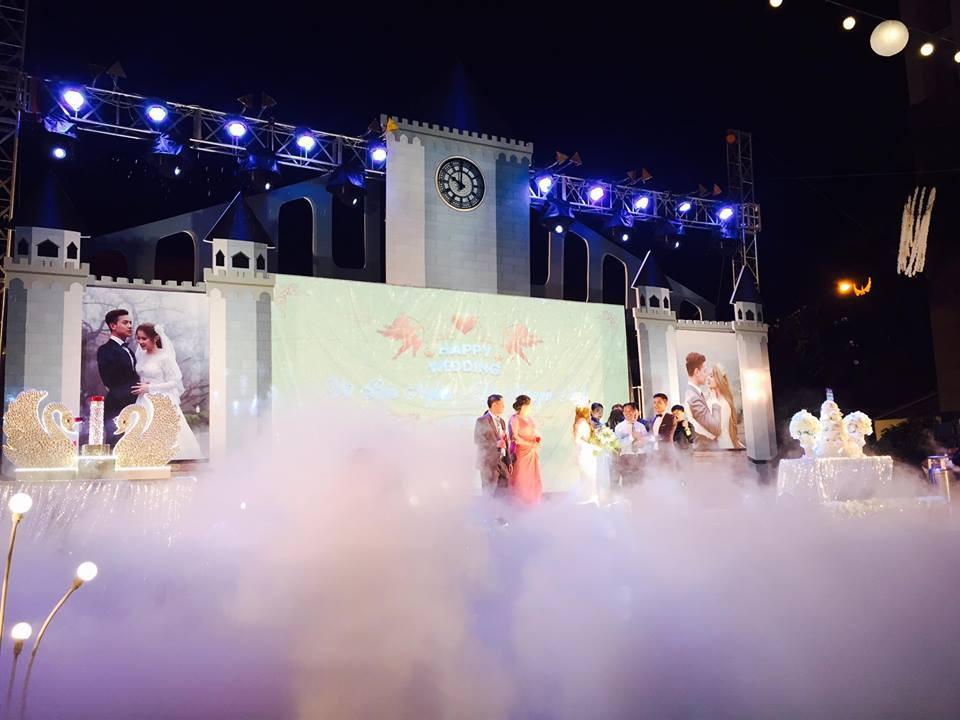 Lễ báo hỉ hoành tráng pool party ở Buôn Mê Thuột riêng tiền trang trí hết 200 triêu, 1.000 khách mời, sân khấu như lâu đài - Ảnh 6.