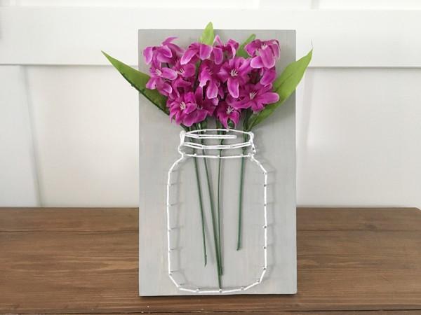 Tự làm tranh lọ hoa 3D trang trí tường lạ đẹp - Ảnh 7.
