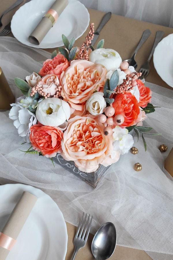 2 cách cắm hoa lụa trang trí nhà xinh yêu - Ảnh 6.