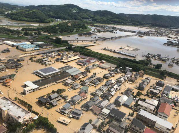 Chú ngựa đi lạc lên... mái nhà sau trận lũ quét ở Nhật Bản - Ảnh 4.