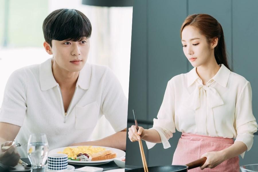 Thư ký Kim lần đầu tự tay nấu bữa sáng tình yêu cho Park Seo Joon - Ảnh 1.