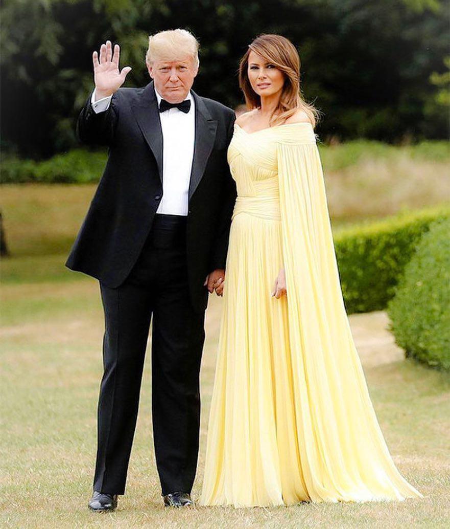 """Bà Melania Trump """"chiếm sóng MXH"""" với chiếc đầm được ví như đầm của Belle trong Người đẹp và quái vật - Ảnh 1."""