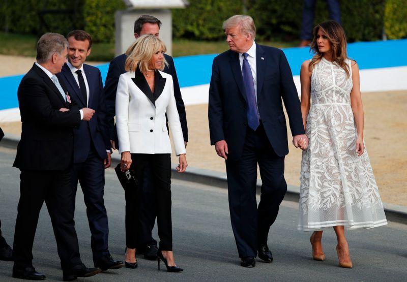 Cùng một khung hình mới thấy khác biệt trong phong cách của Đệ nhất phu nhân Mỹ và Pháp lớn đến thế nào - Ảnh 3.