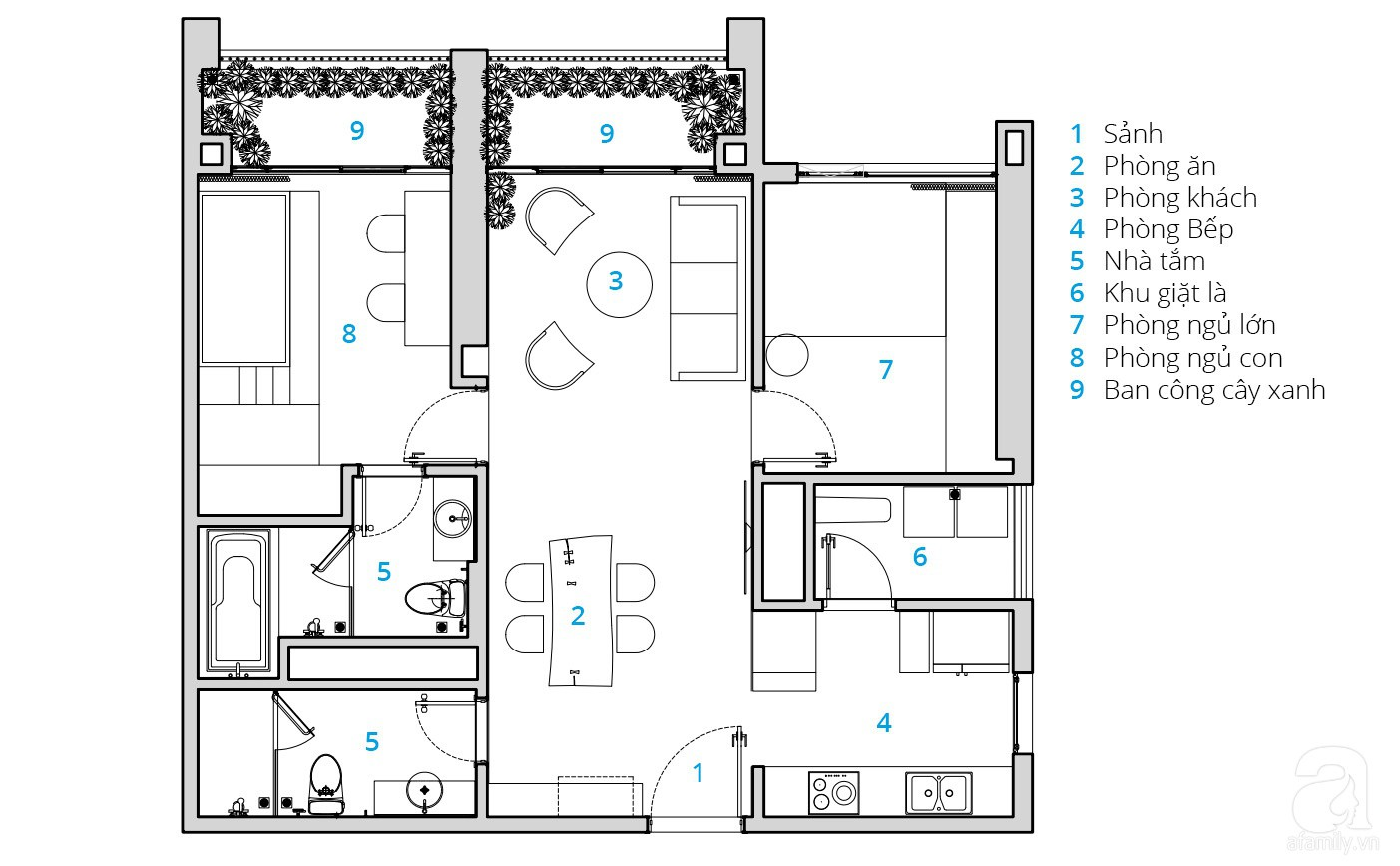 Căn hộ 80m² trên tầng 21 đẹp độc đáo với chi phí cải tạo 780 triệu đồng của chủ nhà yêu cây xanh - Ảnh 1.