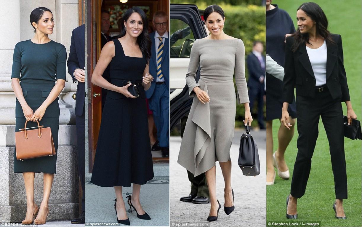 Meghan Markle lại bị chỉ trích khi tiền trang phục trong 2 tháng của cô còn nhiều hơn tủ quần áo cả năm của Kate Middleton - Ảnh 12.