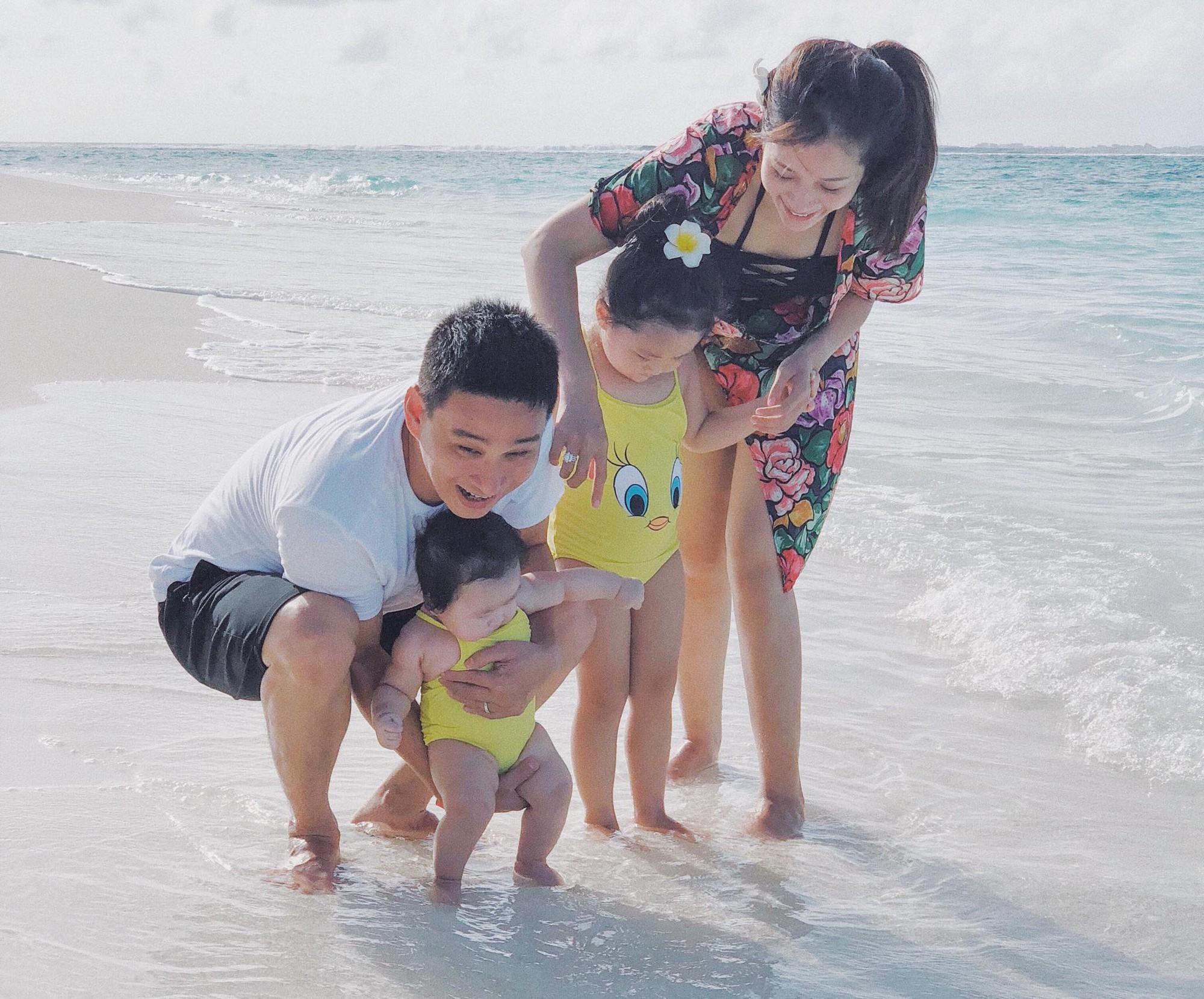 Nàng Hoa hậu người Việt tại Mỹ chia sẻ bí quyết dù con bé tí hin vẫn cùng chồng đi thiên đường tình yêu Maldives lãng mạn - Ảnh 3.