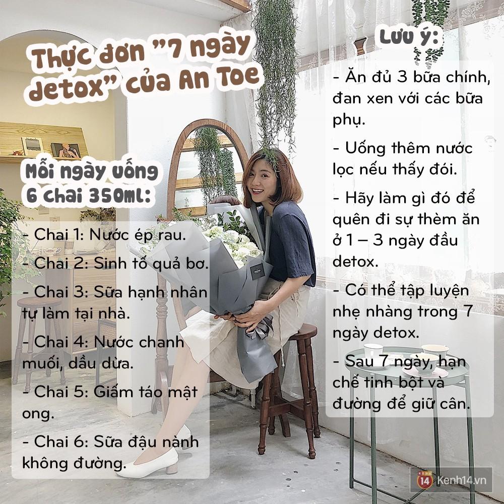 Học ngay thực đơn 7 ngày detox giúp An Toe giảm đến 4kg và 6cm vòng bụng - Ảnh 13.