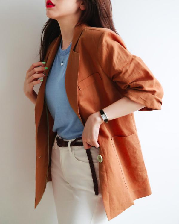 Diện đẹp cả tuần với những món đồ vải đũi nhẹ nhàng, thanh thoát  - Ảnh 3.