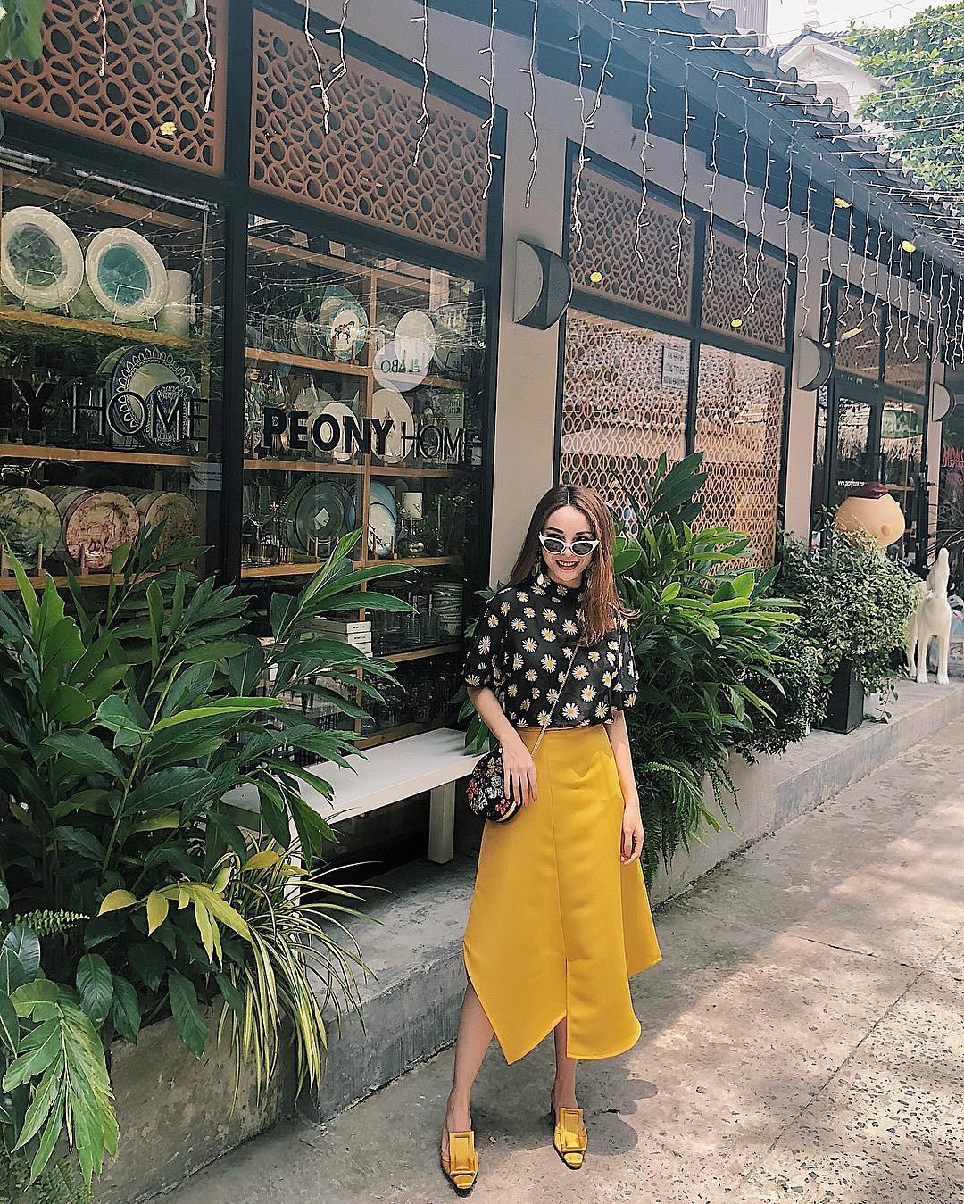 Học theo Kate và Meghan, các người đẹp Việt cũng đang diện váy áo vàng tươi chói lòa - Ảnh 10.
