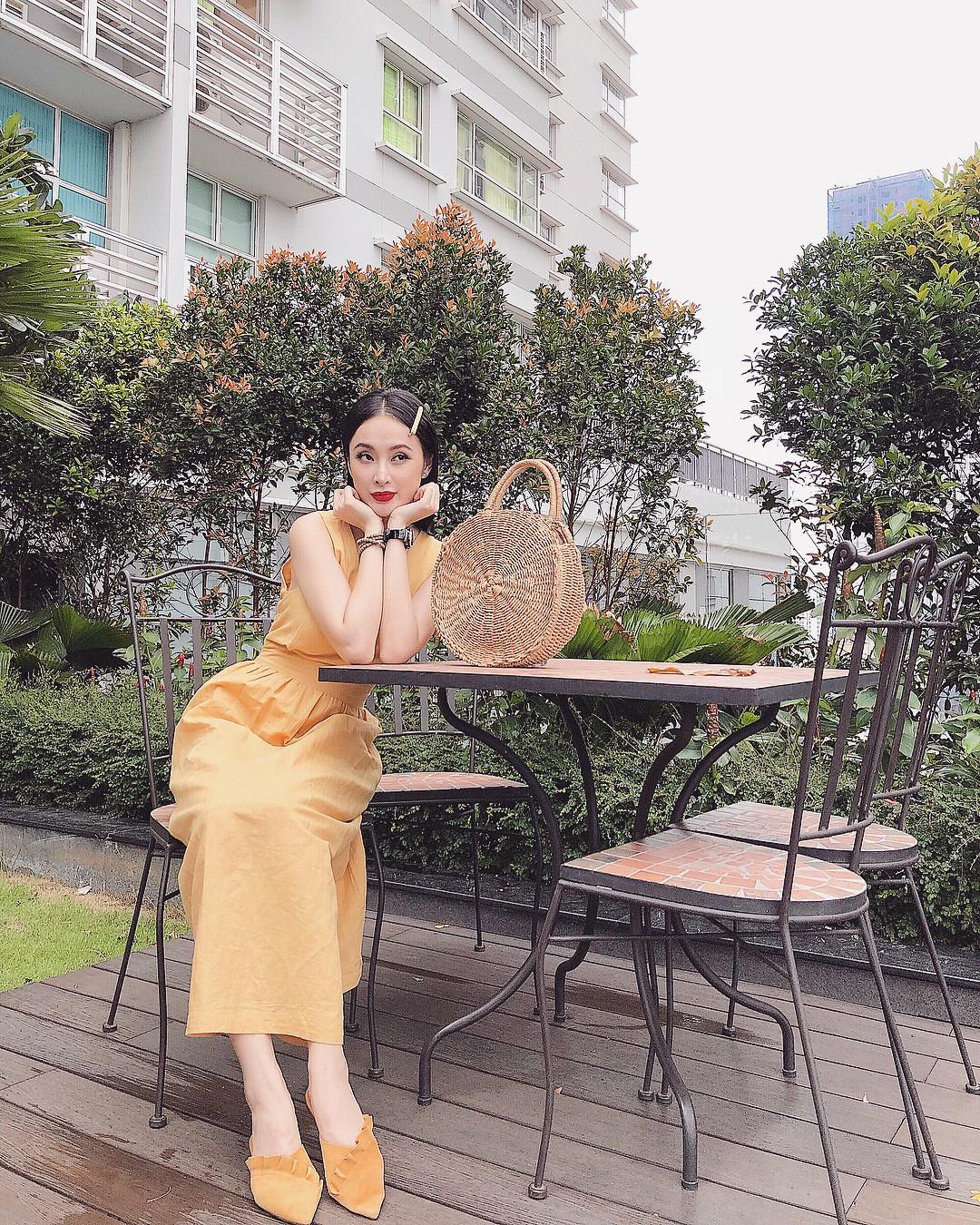 Học theo Kate và Meghan, các người đẹp Việt cũng đang diện váy áo vàng tươi chói lòa - Ảnh 9.