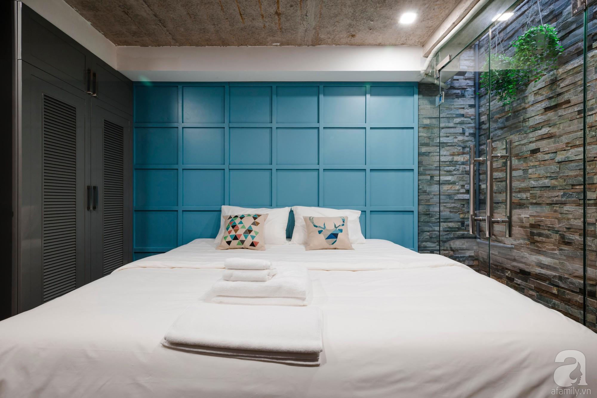 Căn hộ 55m² được cải tạo từ tầng hầm đẹp bất ngờ với điểm nhấn màu xanh biển mát lành ở TP HCM - Ảnh 10.