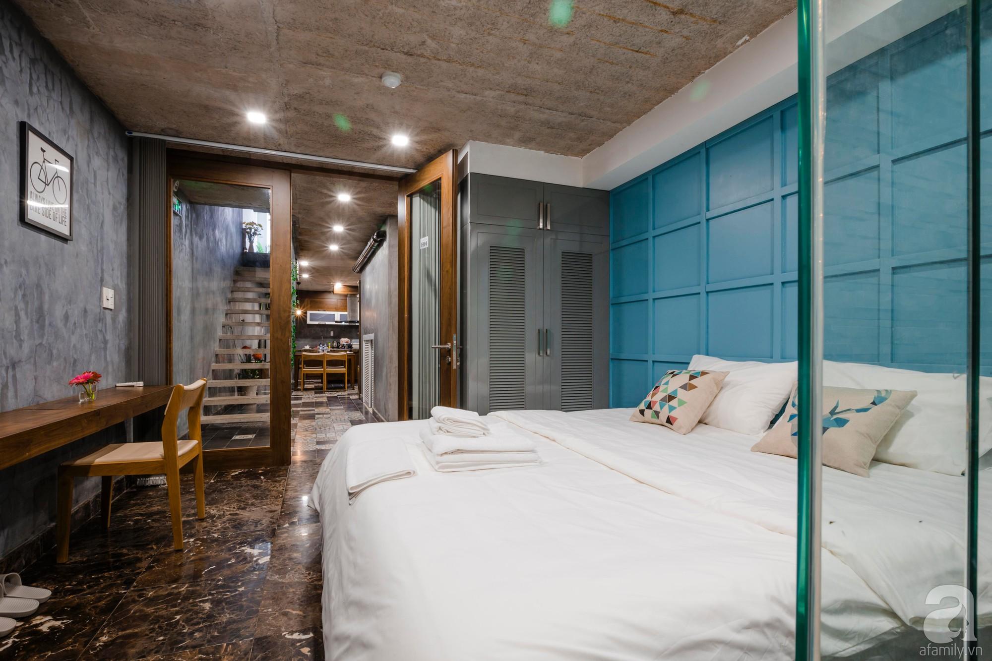 Căn hộ 55m² được cải tạo từ tầng hầm đẹp bất ngờ với điểm nhấn màu xanh biển mát lành ở TP HCM - Ảnh 9.